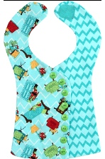 Bib with buttons