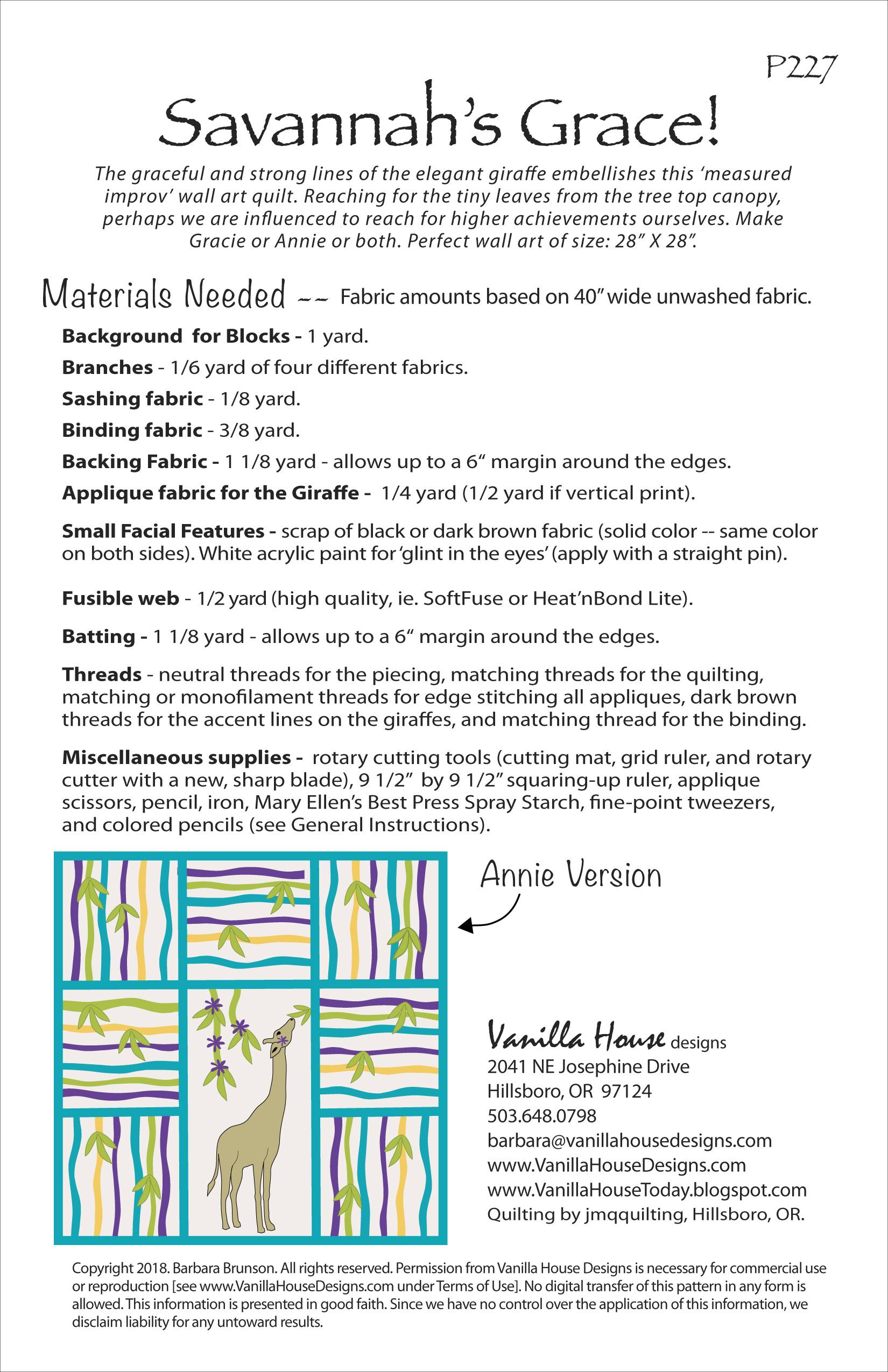 P227 Savannah's Grace | Vanilla House Designs
