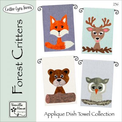 Forest Critter Applique Dish Towels