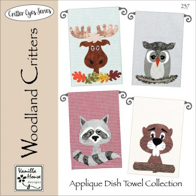 Woodland Critters Applique Dish Towels