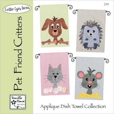 Pet Friend Critters Applique Dish Towels