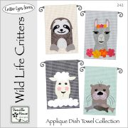 Wild Life Critters Applique Dish Towels